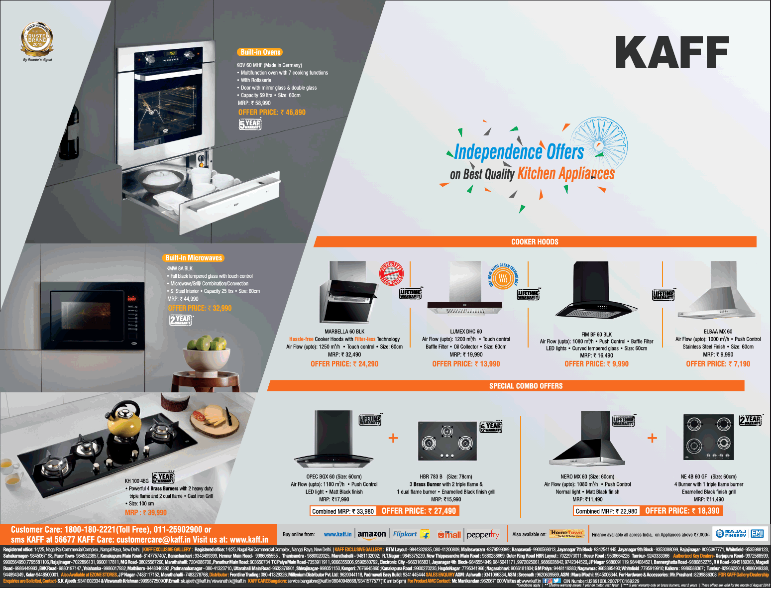 Kaff Appliances - Special Offers