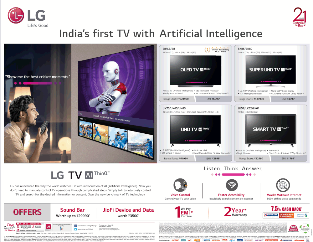 LG Smart TV - Smart Celebration Offers