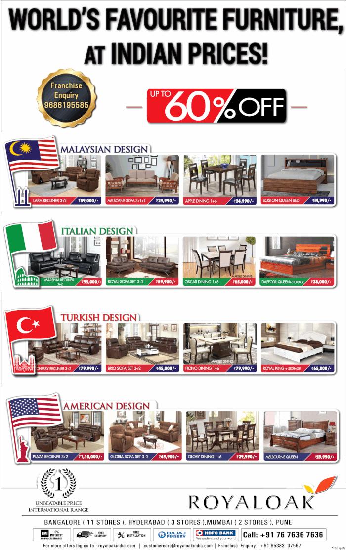 Royal Oak Furniture - Sale
