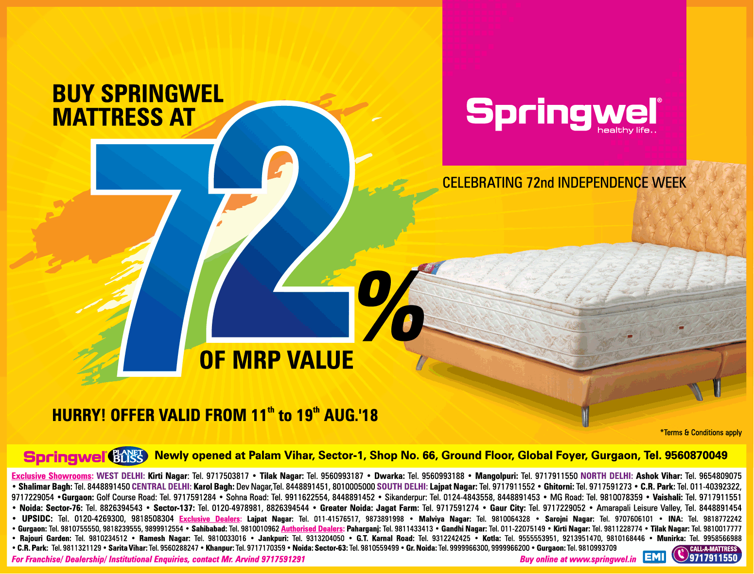 Springwel Mattress  - Festive Offer