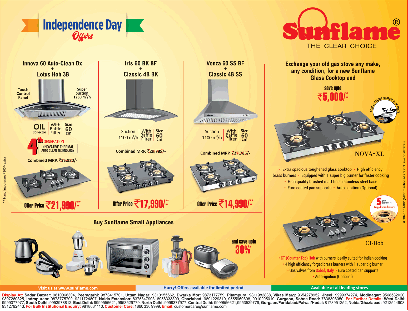 Sunflame Kitchen Appliances - Fabulous Offers